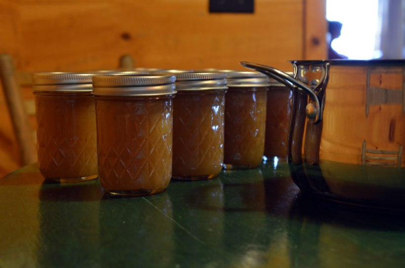 Apple butter in Ashley English's canning class