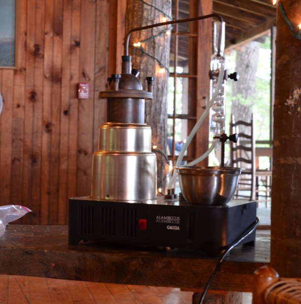 Distiller set up and ready for action