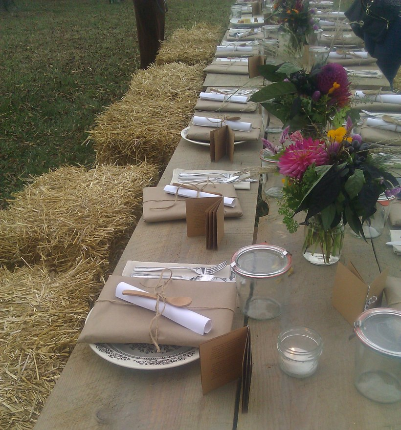 Kinfolk event dinner table
