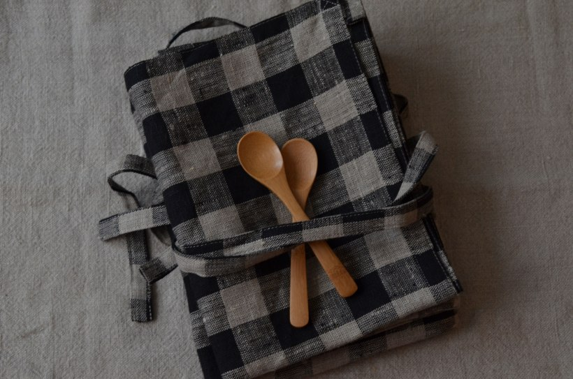 Cafe aprons from Shop Fog Linen and little spoons from Olmay Home