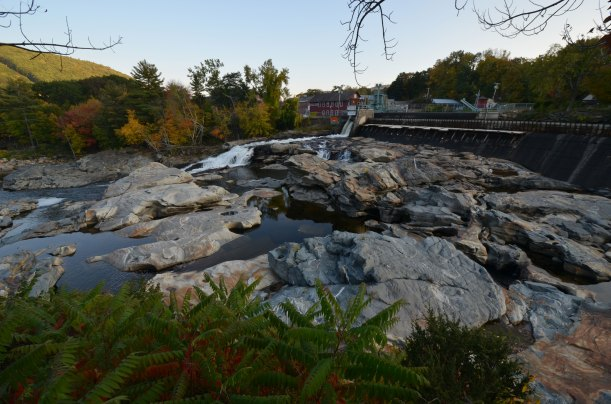 Glacial potholes at Shelburne Falls