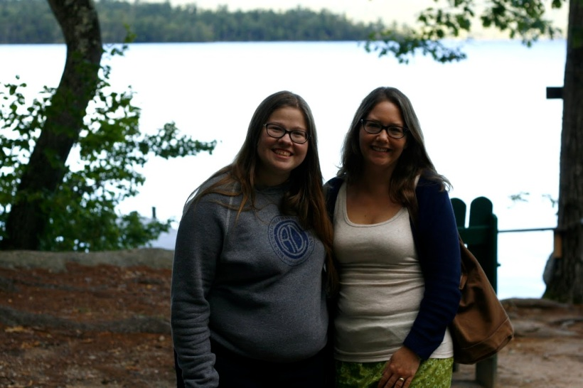 Me, left, with Dixie at the Taproot Gathering; photo by Dixie's roommate Katie Snyder
