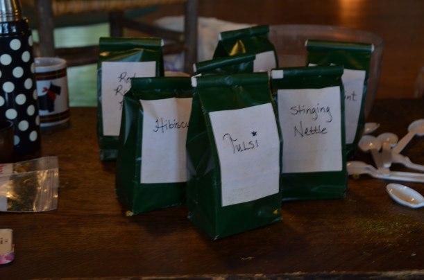 Raw ingredients for blending teas