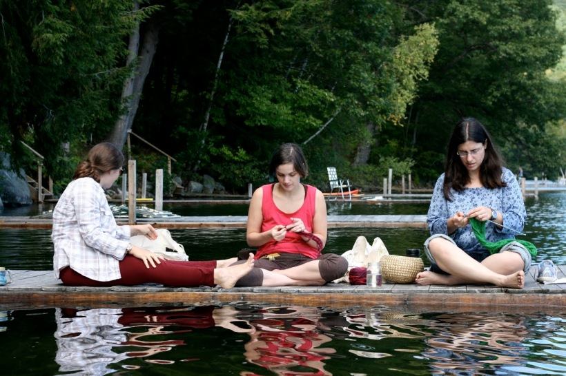 Erica on the dock - I hope someone snaps a photo of me like this sometime. It's so very Squam.