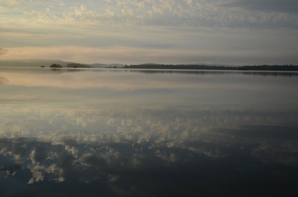Squam Lake in the morning, from the Eldorado dock