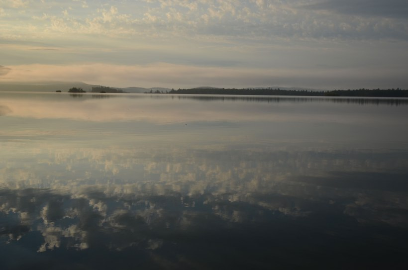 Squam Lake in the morning, from the Eldorado dock