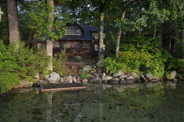 Eldorado cabin, seen from the lake