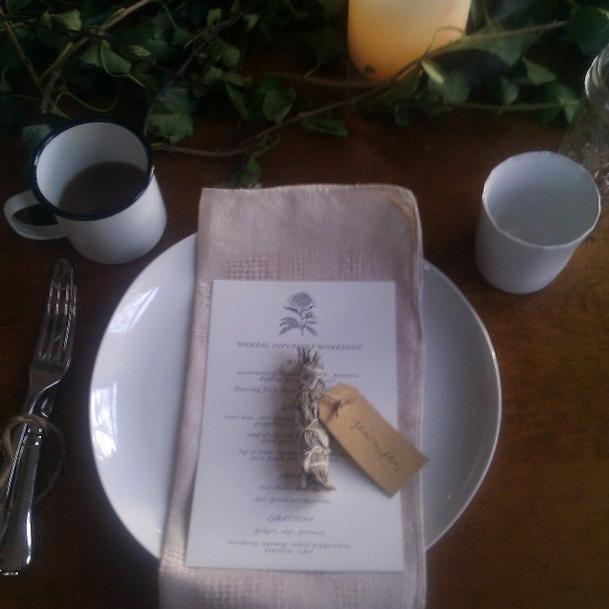 Place setting at the Kinfolk dinner